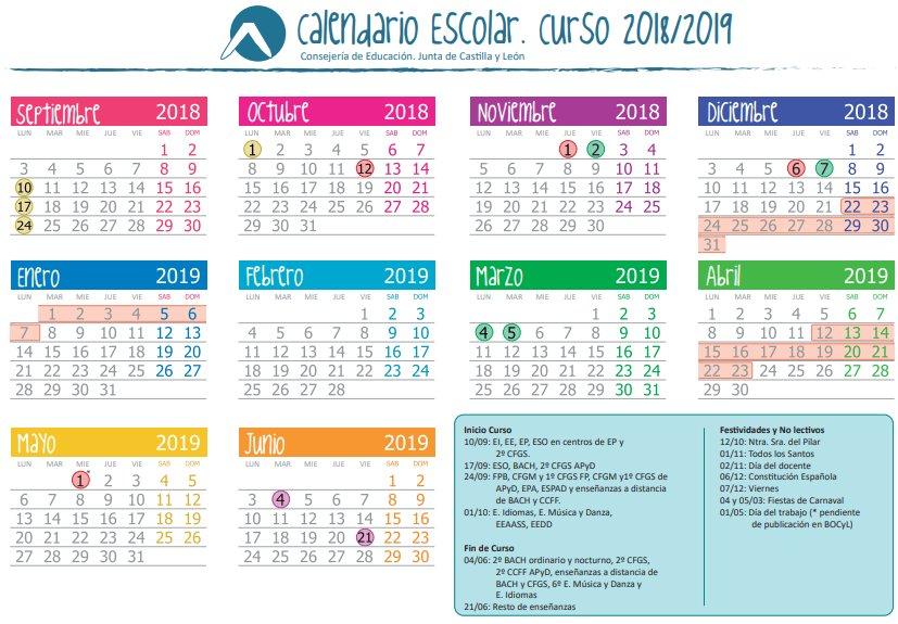 Calendario Deusto.C R A Bajo Tormes